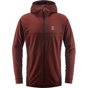 Haglöfs Lithe Capuche Homme, maroon red